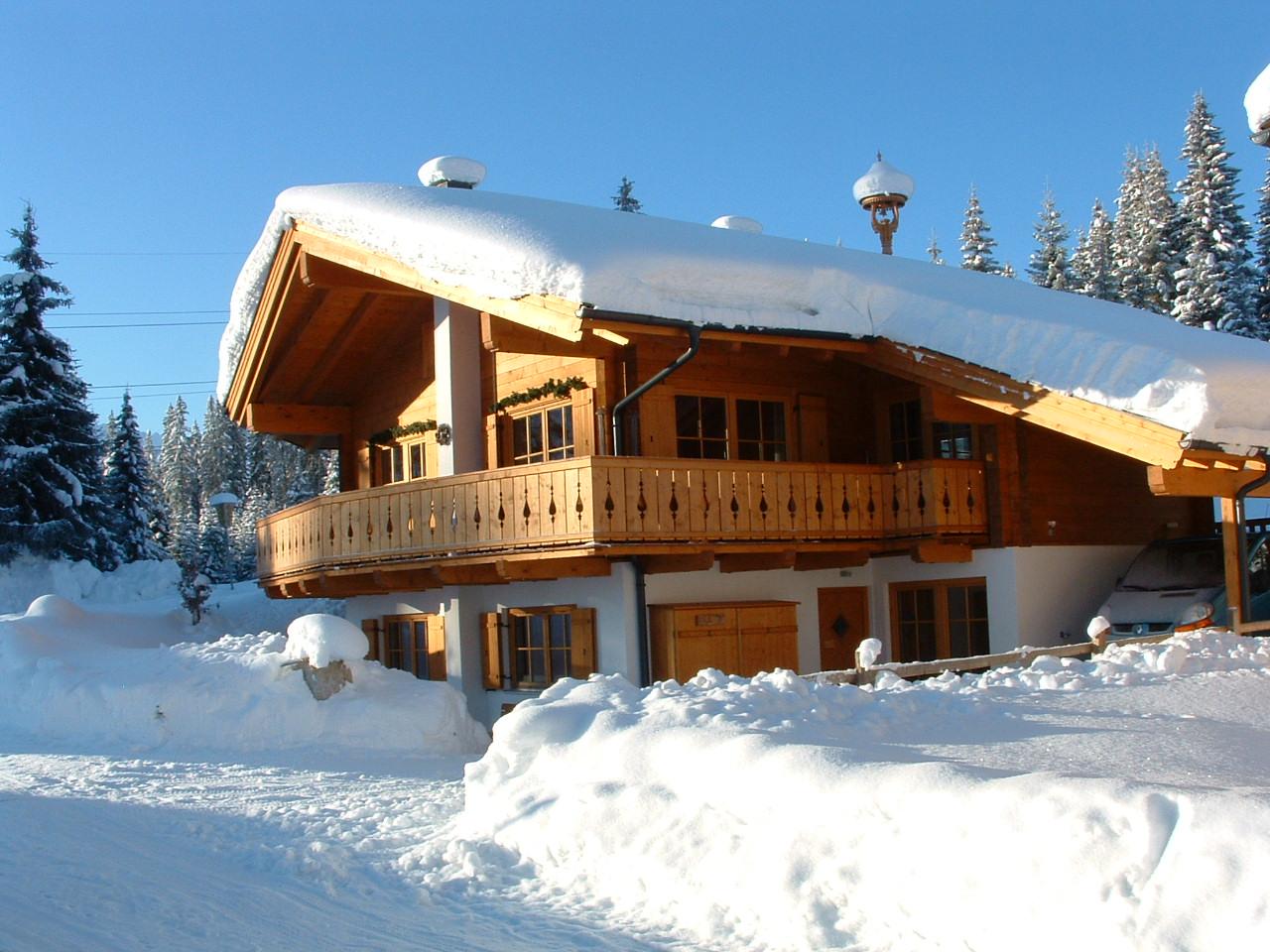 Winter bij chalet Xieje